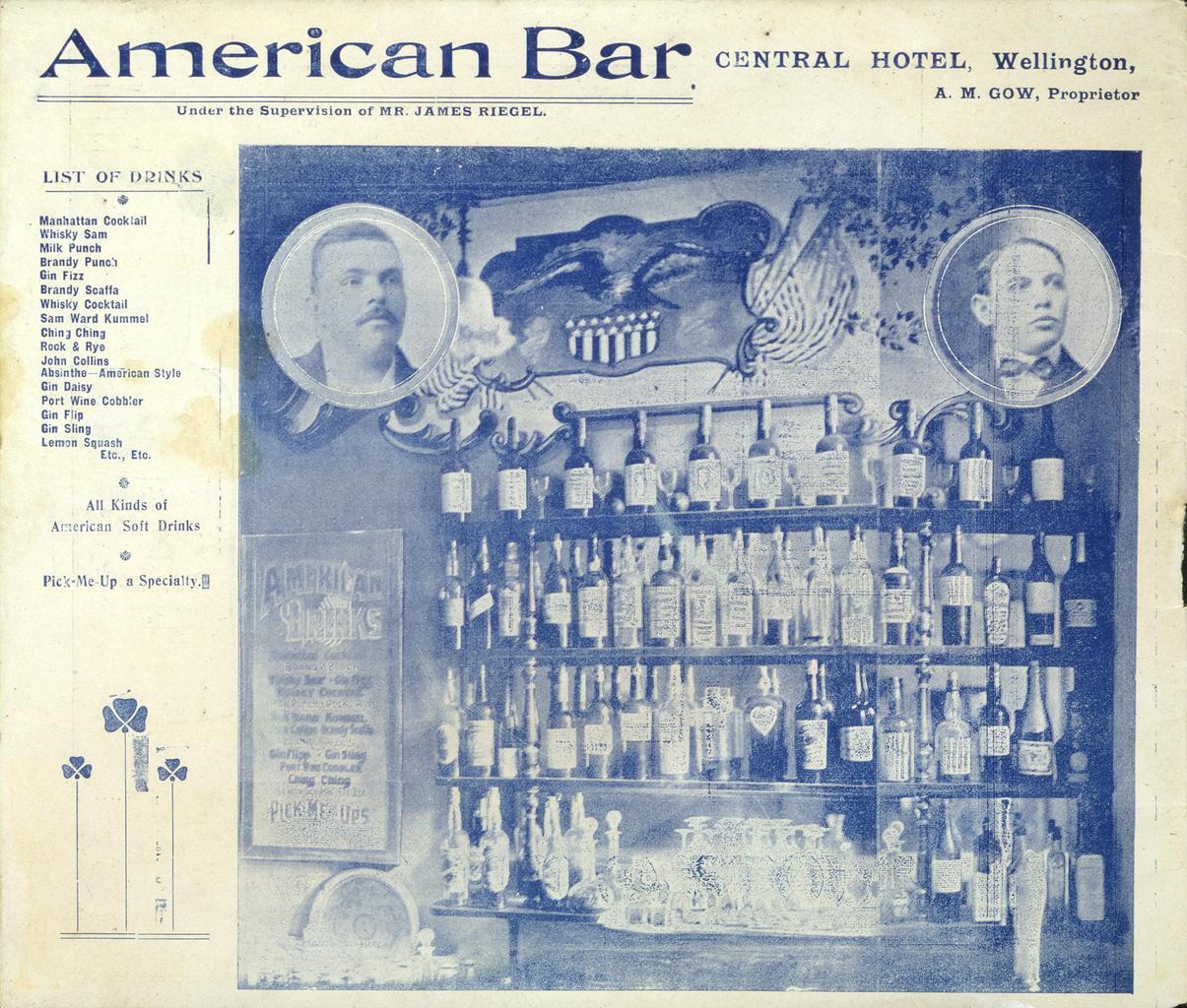americký barový lístek