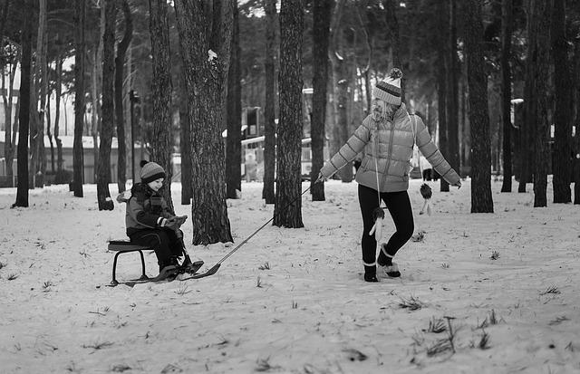 Aktivní trávení času s dětmi v zimě