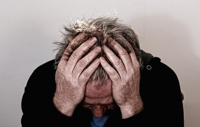 Muž s depresí